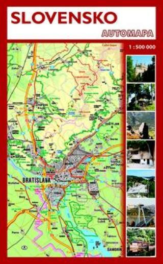 Slovensko - automapa 1: 500 000 [Mapa knižní]